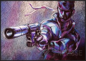 Solid snake oil pastel by Nevisse