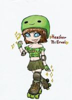 Chibi Roller Derby Girl by phoenixdoll