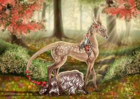 Lady Ceridwen | Young Lady | Glenmore | Royal Doe by SweetLittleVampire