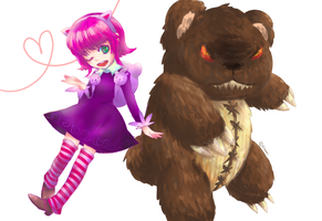 Annie and bear by Foxmi