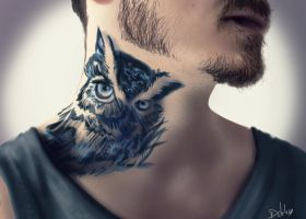 The Owl tattoo by Debby1996