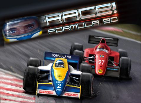 Box cover for RACE! by Erebus-art