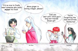 Akane and Inuyasha and... by GoldeenHerself