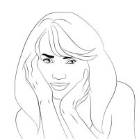 Halle Berry Lineart by inkeen