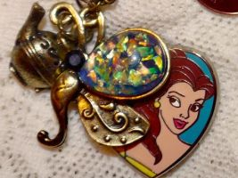 Disney Princess Belle Beauty and Beast Necklace by elllenjean