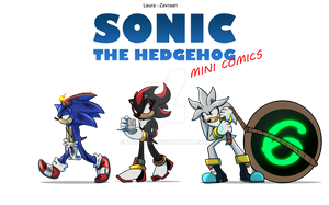 Sonic The Hedgehog Comics Logo by zavraan