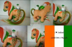 My little Pony Custom I love Ireland by BerryMouse