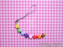 Cellphone Charm: *Rainbow Stars* (Cheerful Line) by FiyahKitteh