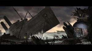 Ship graveyard by Undercurrent-32