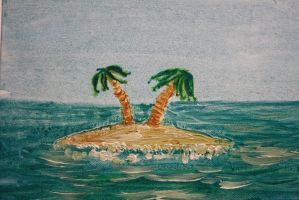 Desert Island on Canvas 8x10 by Nat-photography
