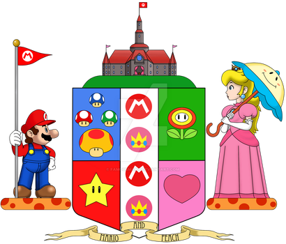 Mario and Peach's Coat of Arms by FamousMari5
