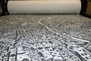 Paris map inked white by dexter121uk