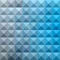 Bright Cerulean Blue Abstract Low Polygon Backgrou by apatrimonio
