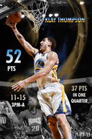 Klay Thompson 52 point night by chronoxiong