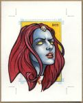MYSTIQUE, X-Men Sketch Card by Erik-Maell