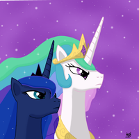 Celestia and Luna by erinbaka1090