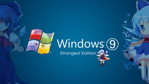 Windows 9 wallpaper by Karipap-Youkai