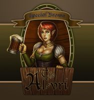 Fantasy Bar Maid (Beer Label Version) by stonepro