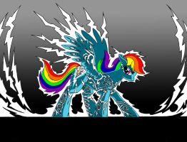 Rainbow Dash, Lightning Rider by DoomSp0rk