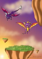 _Spyro and Cynder_Skylanders_ by Crash-Fan3210