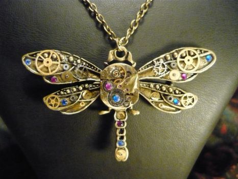 Bronze Steampunk Dragonfly by lollollol2