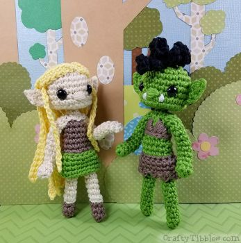 Orc and Elf BFFs by CraftyTibbles