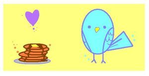 Bird with Pancakes by Lemguin