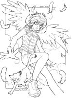 Indygo:Lineart by Archie-The-RedCat