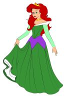 Ariel as Aurora by DisneyWiz