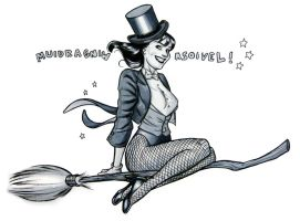 Zatanna: DEHCTIWEB by quin-ones