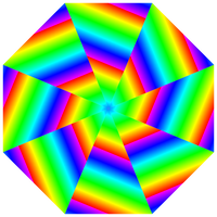 shattered rainbow octagon by 10binary