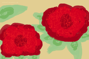 Red Flowers of a Lady by mylastel