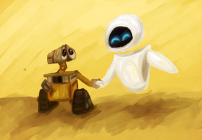WALL-E: Yellow Speedpaint by schellibie