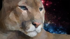 Low Poly Abstract Space Cougar by Picklequak