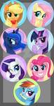 Bronycon Buttons by Wicklesmack