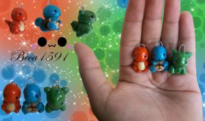 chibi pokemon clay charms by Beca1591