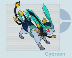 Fakemon request - Cybreon by byona