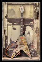 Steampunk Flying V Guitar by Woolf83