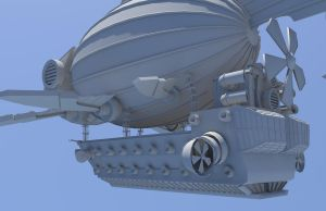 Airship Render 4 by Graphite-Dream