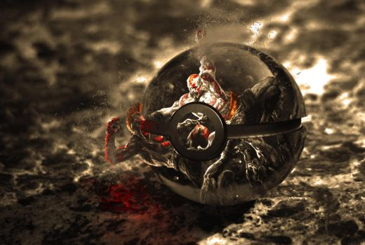 The pokeball of Kratos by wazzy88