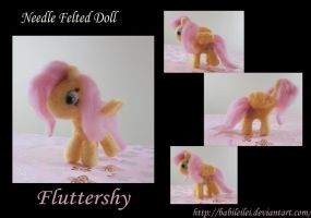 Needle Felted Fluttershy by Babileilei