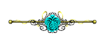 Teal Rose border gold by CosmicDragonJazz
