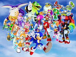 Sonic and his Friends and Rivals Rising Sky by 9029561