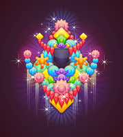 Badge With Abstract Background 4 by Viscious-Speed
