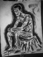 COLLEGE LIFE DRAWING 3 by phymns