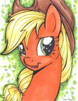 Applejack Portrait by frostykat13