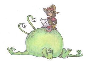Alexine searches the little alien's bellybutton! by alexine-pankhurst