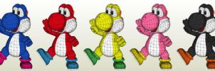 Yoshi color schemes by Destro2k