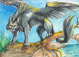 ACEO: Shadow cat by Leundra