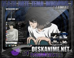 L Lawliet Theme Windows 7 by Danrockster